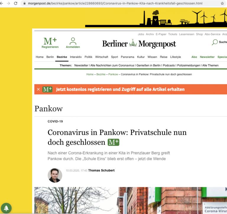 Berliner Morgenpost, 10.03.2020