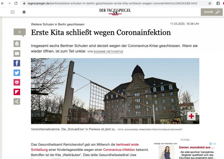 Tagesspiegel Online, 11.03.2020