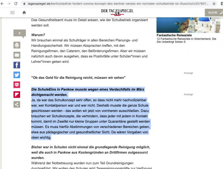 Interview mit Torsten Kühne, Tagesspiegel Online, 30.04.2020